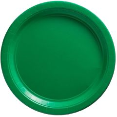 "Big Party Pack Festive Green Lunch Paper Plates, 9"" - 50ct"
