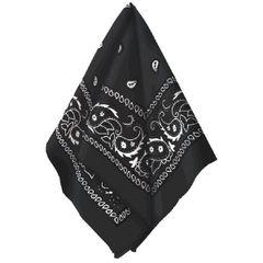 Black Bandana w/ Paisley Print