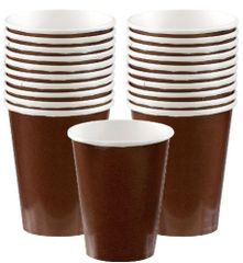 Chocolate Brown Paper Cups, 9oz - 20ct