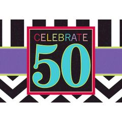 50th Celebration Invitations, 8ct