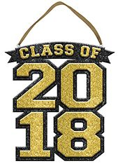"""2018"" Class of 2018 Sign - Gold"