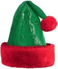 Green Glitzy Elf Hat