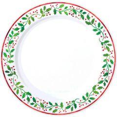 """Christmas Round Plates, 10 1/4"""""""