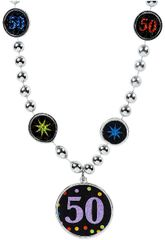 50th Birthday Pendant Bead Necklace