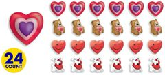 3-D Valentine's Day Erasers, 24ct