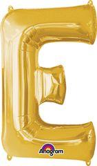 """Gold Letter E - 34"""" Mylar"""