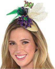 Clip-On Mardi Gras Fascinator Hat