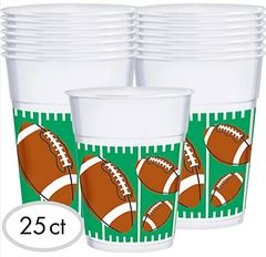 The Big Game Plastic Cups, 16 oz.