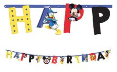 ©Disney Mickey on the Go Jumbo Add-An-Age Letter Banner, 10 1/2ft
