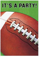 Football Fan Folded Invitations 8ct