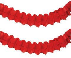 Red Paper Garland, 12ft