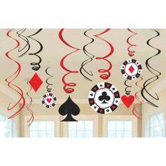 Casino Value Pack Swirl Decorations
