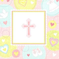 Pink Sweet Religious Lunch Napkins, 16ct