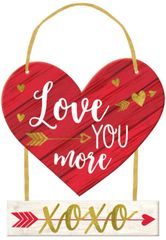 Love YOU More Sign w/Ribbon Hanger