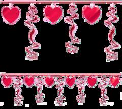 Hearts & Foil Swirl Garland