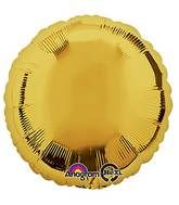 Round 04 Metallic Gold Mylar Balloon 18in