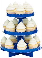 Bright Royal Blue Cupcake Stand