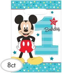 ©Disney Mickey's Fun To Be One Folded Loot Bags, 8ct