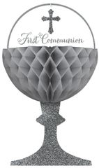 Chalice Communion Honeycomb Decorations, 3ct