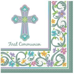 Blessed Day Communion Luncheon Napkins, 36ct