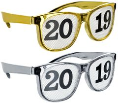 """""""2019"""" Gold & Silver Printed Glasses, 8ct"""