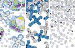 Blue Communion Value Pack Foil & Paper Confetti