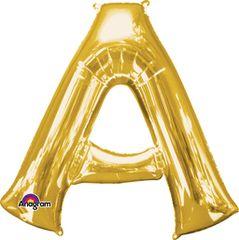 "Gold Letter A - 34"" Mylar"