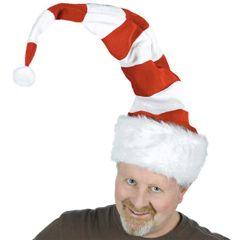 Striped Bend-to-Shape Santa Hat