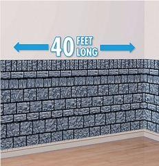 Stone Wall Scene Setter Plastic Room Roll