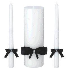 Black Bow Unity Candle Set