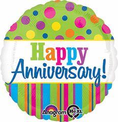 "Bright Anniversary Balloon 18"""