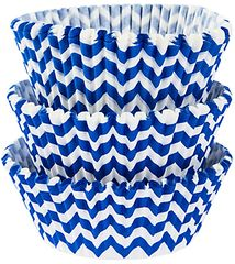 Bright Royal Blue Chevron Baking Cups, 75ct