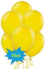 Yellow Sunshine Latex Balloons, 15ct