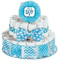 Baby Shower Deluxe Diaper Cake Decorating Kit - Boy