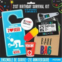 21st Brilliant Birthday Survival Kit