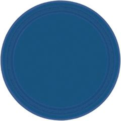 "Navy Flag Blue Dessert Plates, 7"" - 20ct"