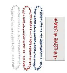 """I LOVE USA"" Bead Necklaces, 3ct"