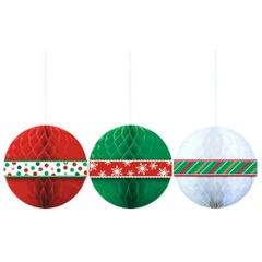 Christmas Tissue Honeycomb Ball Hanging Decoration
