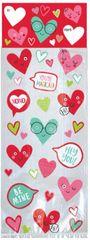 Heart Face Treat Bag Kit, 20ct