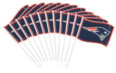 New England Patriots Plastic Flag, 12ct