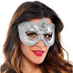 Grand Sequin Silver Mask