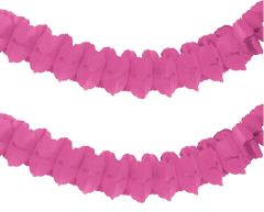 Bright Pink Paper Garland, 12ft