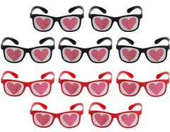 Valentine Dotted Glasses, 10ct