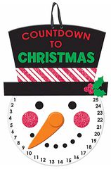 Glitter Snowman Countdown to Christmas Sign
