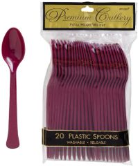 Berry Premium Heavy Weight Plastic Spoons 20ct