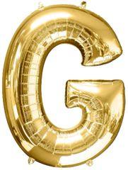 """Gold Letter G - 34"""" Mylar Balloon"""