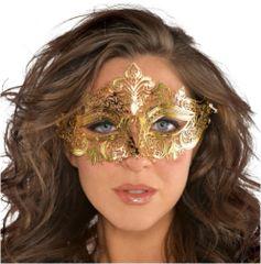 Gold Filigree Masquerade Mask