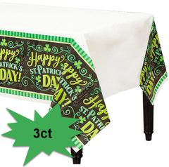 Clover Me Lucky Table Covers, 3ct