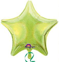 Dazzler Star 09 Lime Green Mylar Balloon