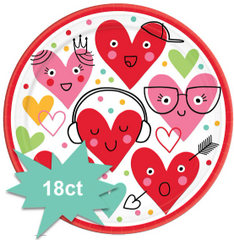 Heart Face Round Plates, 7""